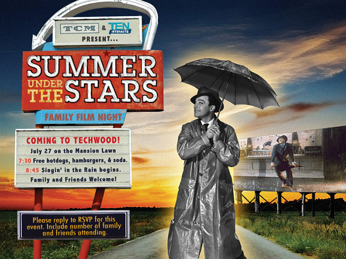 TEN Interacts & TCM Summer Under the Stars event, flyer design