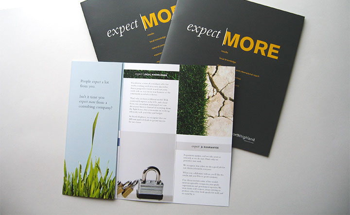 Corporate Overview brochure in gate fold layout.