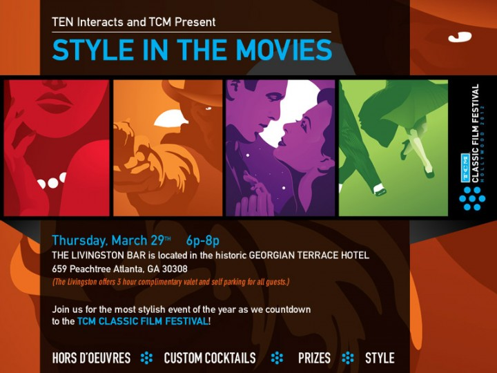 Flyer design for TEN Interacts & TCM Classic Film Festival Event