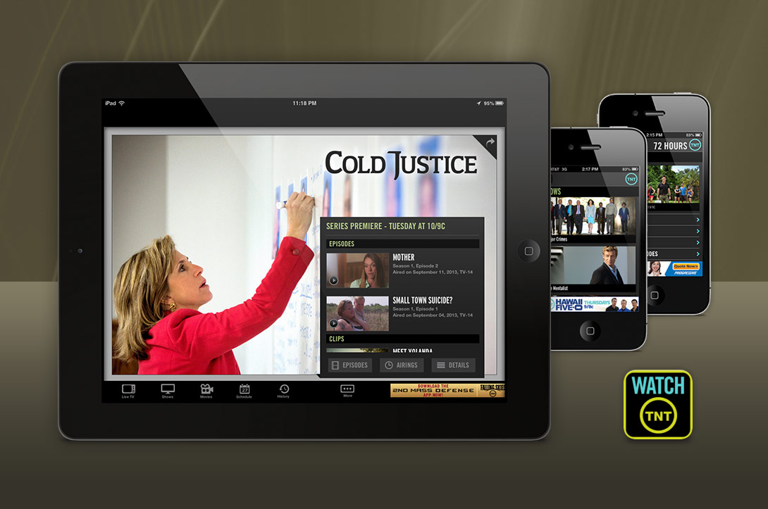 Show specific graphics designed for iPad, iPhone and Android tablets.